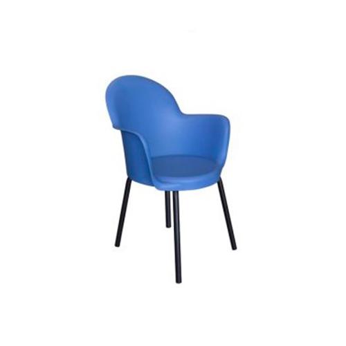 Cadeira Boston Fixa Azul