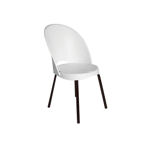 Cadeira Boston Fixa Branca sem Braços