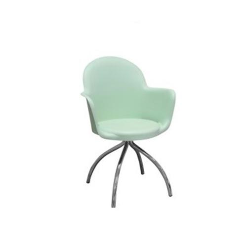 Cadeira Boston Fixa Verde Pés Raios Variados