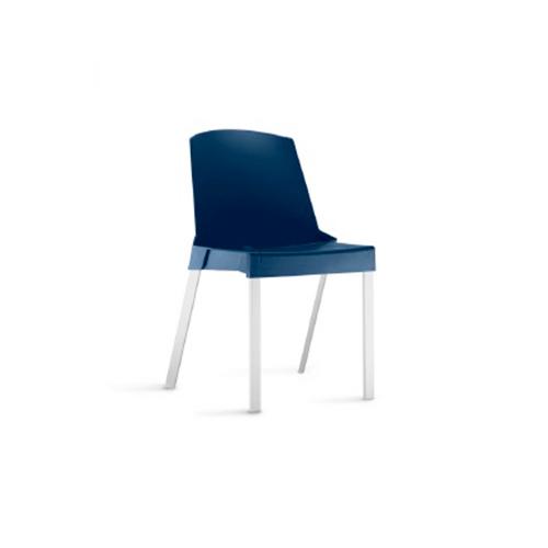 Cadeira Shine sem Braços Fixa Azul