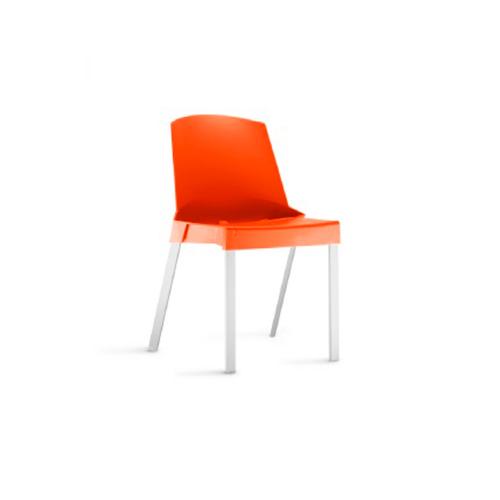 Cadeira Shine sem Braços Fixa Laranja