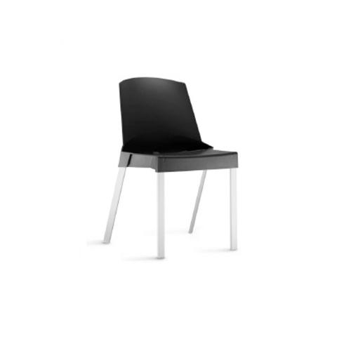 Cadeira Shine sem Braços Fixa Preta
